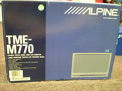 """Brand New In The Box Alpine Tme-M770  Touch Panel 6.5"""" Lcd Monitor"""