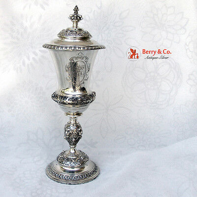 Antique Large Covered Chalice 830 Silver 1885