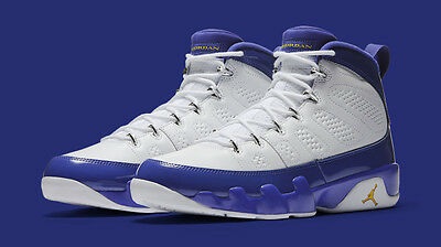 5bc75f747d2cd2 NIKE AIR JORDAN 9 IX Retro Lakers Kobe Bryant PE Size 10.5. 302370 ...