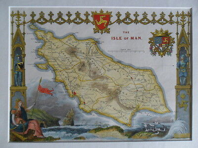 Original map of ISLE of MAN 1832 by Moule