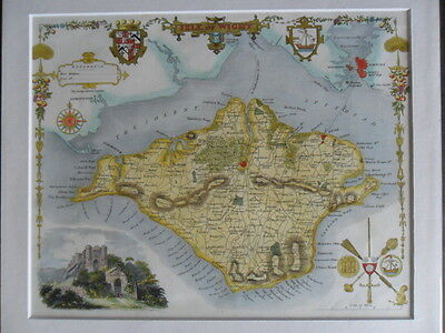 Original map of ISLE of WIGHT 1832 by Moule