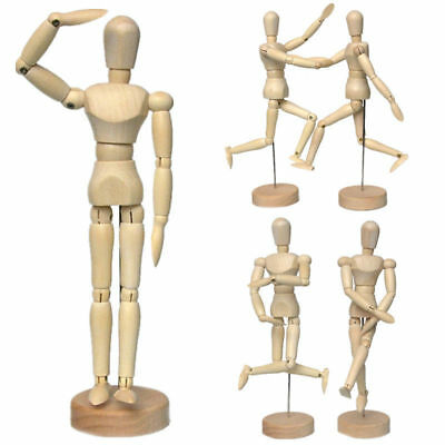 "12"" Wooden Figure Manikin Human Artist Draw Painting Model Mannequin Wood Doll"