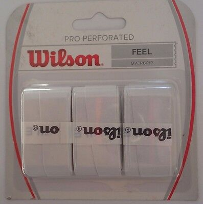 Wilson Pro Overgrip   Perforated Grip ( White - (3 Pack)