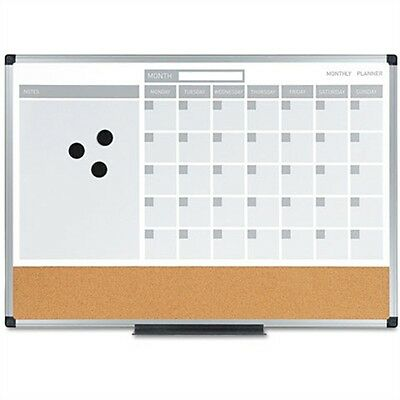 MasterVision 3-in-1 Combo Monthly Calendar Board MB3507186