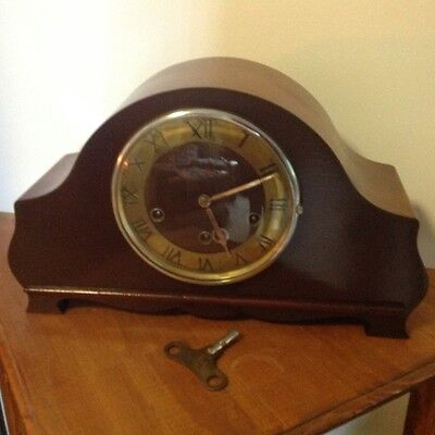 Antique mantle clock Westminster chiming on quarter hours working