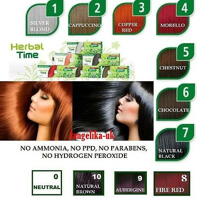NATURAL HENNA COLOUR CREAM HERBAL HAIR COLORANT DYE Different Shades