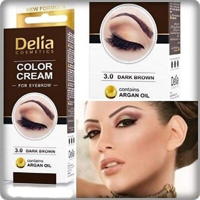 Delia Henna / Color Cream Eyebrow Professional Tint Kit Dark Brown