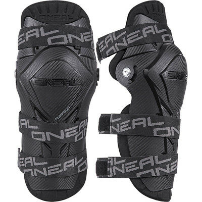 NEW Oneal Mx Adult Pumpgun BMX MTB Dirt Bike Carbon Black Motocross Knee Guards