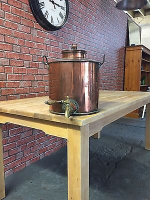 large stunning vintage copper urn with brass tap