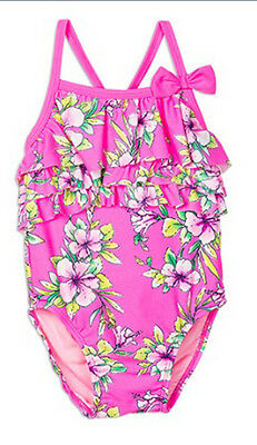 PUMPKIN PATCH Baby girls floral swimsuit Size 1 BNWT