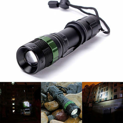 10000LM XPE LED Zoomable Focusing Flashlight Torch Light Camping Lamp 18650 AAA