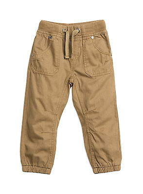 Boys Pumpkin Patch  Drill Pull on Pants Size 6 & 7   Earth
