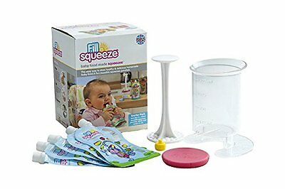 """Baby Food Pouches Fill n Squeeze Starter Pack Filler Jug  """"Free Shipping"""""""