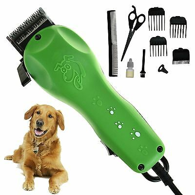 10pc Professional Pet Hair Clippers Trimmer Grooming Kit Dog Cat Easy Cut Animal