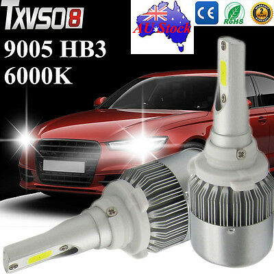 9005 HB3 LED Cree Car Headlight Globes Bulbs Kit 6000K Lamp White 110W 20000LM