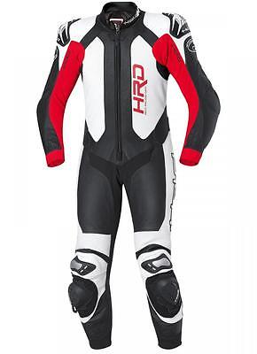 Held Slade One Piece 1PC Leather Motorcycle Motorbike Racing Suit | White / Red