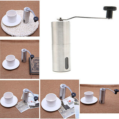 Manual Coffee Bean Stainless Steel Grinder Spice / Nuts Grinding Mill Hand Tool