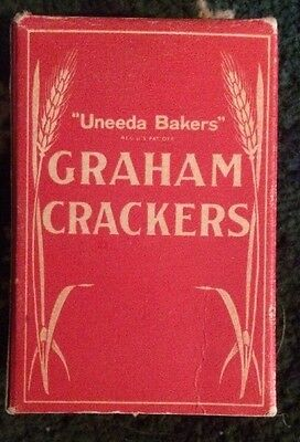 National Biscuit Company Sample Uneeda Bakers Graham Crackers 1930's  Box