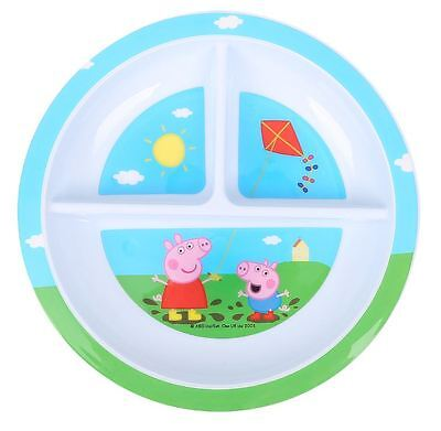 Peppa Pig & George 3 sectioned toddler dining plate - Licensed - New