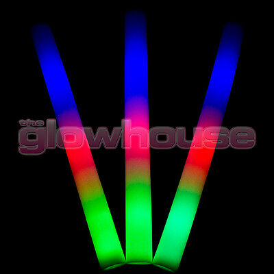 Light Up Premium LED Foam Glow Stick High Quality Flashing Multi Colour