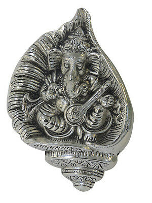 Wall Hanging Metal Ganesh Ganesha Statue Hindu Lord of Success Religious Figure