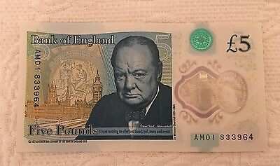 New Bank of England £5 Note AM01