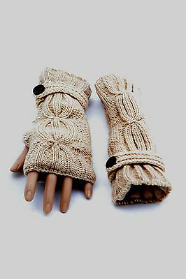 Winter Knit Ladies Woolen Gloves Mitten Nepal Handmade Warm Ski Boho Unique