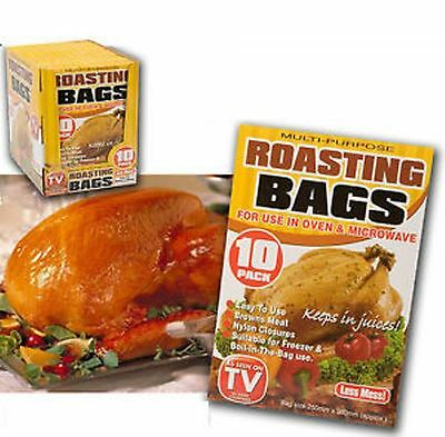 Large Roasting Bags Microwave Oven Cooking Poultry Chicken Pork Meat Fish Veg
