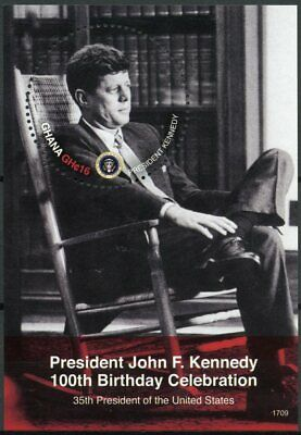 Ghana 2017 MNH JFK John F Kennedy 100th Birthday 1v S/S US Presidents Stamps