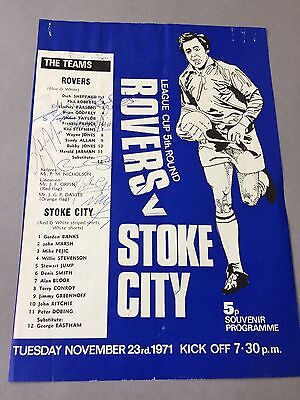 BLACKBURN ROVERS signed magazine page cut from the 1970's Football autographs