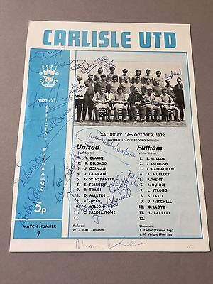 CARLISLE UNITED signed magazine page cut from the 1970's Football autographs
