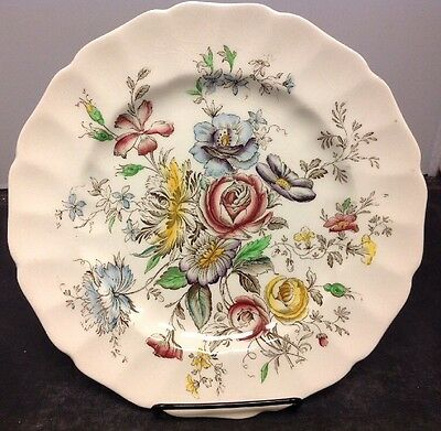 "Johnson Brothers Sheraton 10"" Dinner Plate Regency Line Ironstone"