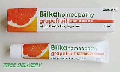 Bilka Homeopathy Grapefruit Toothpaste - Menthol, Fluoride and Sugar Free 75ml