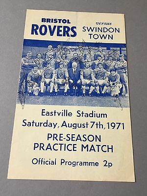 BRISTOL ROVERS  signed magazine page cut from the 1970's Football autographs