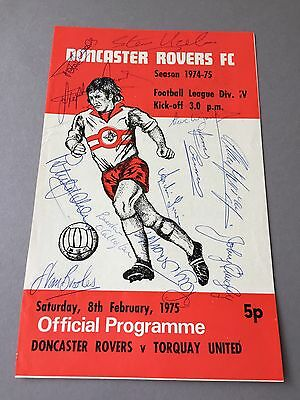 DONCASTER ROVERS FC signed magazine page cut from the 1970's Football autographs