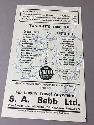 CARDIFF CITY signed magazine page cut from the 1970's Football autographs