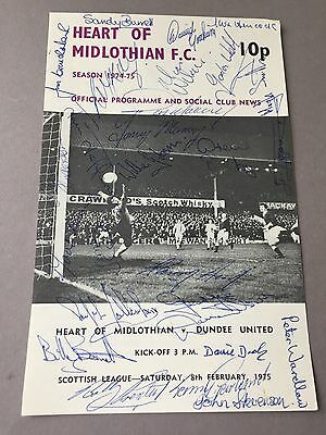 HEART OF MIDLOTHIAN FC signed magazine page cut from the 1970's Football