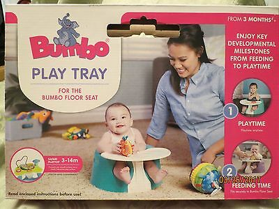 Bumbo Play Tray Fits Securely Floor Baby Seat Toy Smooth Surface Portable Ivory