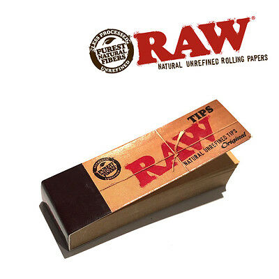 Original Raw Natural Rolling Paper Filter Tips Smoking Tobacco 50 Tips - Raw Tip