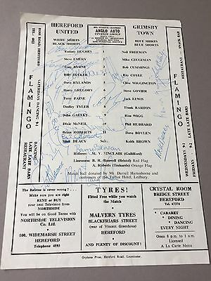 HEREFORD UNITED signed magazine page cut from the 1970's Football autographs