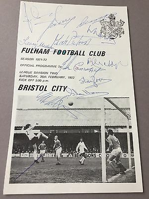 FC FULHAM signed magazine page cut from the 1970's Football autographs