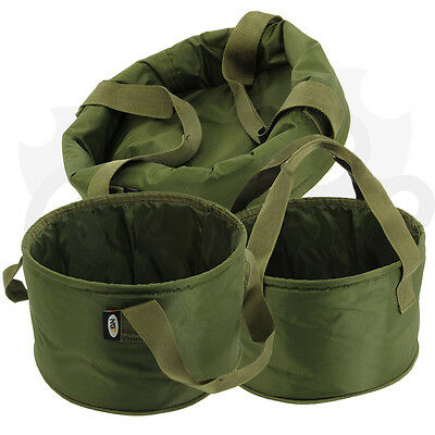 NGT Carp Fishing Collapsible Ground Bait Storage Bucket Preparation Bowl Handles