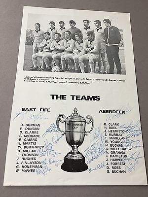 FC ABERDEEN  signed magazine page cut from the 1970's Football autographs
