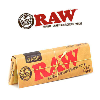 RAW CLASSIC 1 1/4 Regular Size Rolling Papers Smoking Cigarette Tobacco not ocb