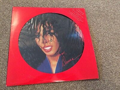 """Donna Summer """"Love is in Control"""" picture disc vinyl LP 1992 - EXCELLENT"""