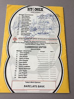 STONES FC  signed program magazine from the 1970's Football autographs