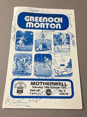 GREENROCK MORTON signed magazine page cut from the 1970's Football autographs