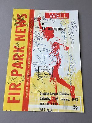 MOTHERWELL FC signed magazine page cut from the 1970's Football autographs