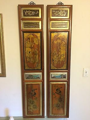 Pair Of Exquisite Decorative Wall Panels with Ancient China Images