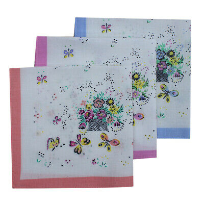 12 Pieces Vintage Ladies Florals Prints Handkerchiefs HANKIES